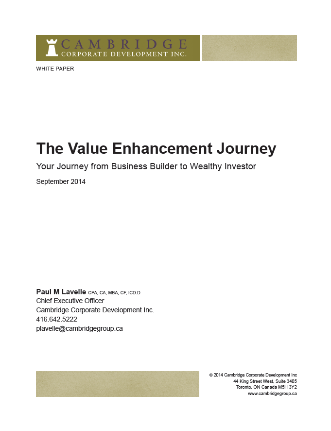 The Value Enhancement Journey